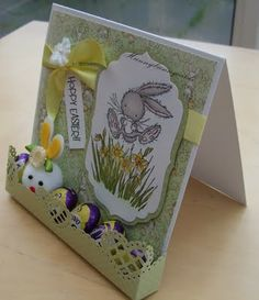 Easter card with mini eggs