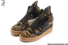 Latest Listing Cheap Girl Adidas X Jeremy Scott Big Tongue Leopard Shoes Your Best Choice