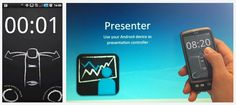 Presenter is an app that assists you in giving dynamic presentations by utilizing hardware that you already have: With this wireless software presentation device you can use your smartphone to switch between the slides of any PowerPoint, OpenOffice or PDF presentation. Works with any bluetooth enabled Windows, Mac, or Linux computer. Substitutes input hardware like laser pointer, clickr or power point remote.