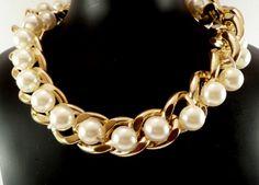 diy collares cadenas y perlas -