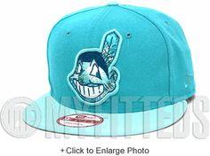 Cleveland Indians Filament Aqua Teal Blue Tint Seaglass White New Era Snapback