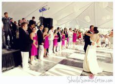 bride & groom first dance, ballroom on the beach
