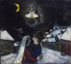 In the night - Marc Chagall