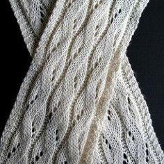 Falling Water scarf - free knit pattern by Bonnie Sennott