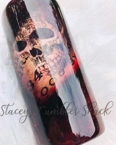Excited to share this item from my shop: halloween tumbler, skull tumbler, gothic tumbler Kids Tumbler, Tumbler Cups, Glitter Cups, Glitter Tumblers, Billy The Puppet, Yellow Marble, Diy Mugs, Custom Cups, Custom Tumblers