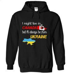 Ukraine-Canada - #polo sweatshirt #designer t shirts. ORDER HERE => https://www.sunfrog.com/LifeStyle/Ukraine-Canada-nvmtq-Black-Hoodie.html?id=60505