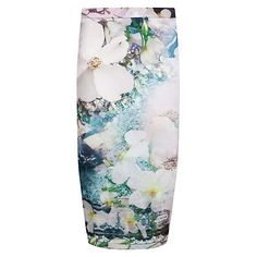 Buy Ted Baker Sinda Tile Floral Midi Skirt, Navy Online at johnlewis.com