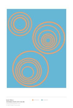 """Josef Albers' Interaction of Color: """"vibrating boundaries"""" color study"""