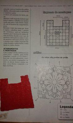 MARILAC ARTESANATOS: Blusa em Square Vamos Crochetar ?