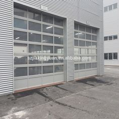Aluminum Sectional Insulated Transparent Glass Garage Door Photo, Detailed about…