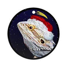 Christmas Night Bearded Dragon Christmas Ornament