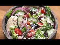 Eat Healthy With This Delicious Mediterranean Salad Salad Recipes, Diet Recipes, Cooking Recipes, Tasty Videos, Food Videos, Easy Healthy Breakfast, Healthy Dinner Recipes, Clean Eating, Healthy Eating
