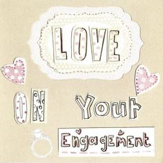 Love On Your Engagement Paper Salad Greeting Card