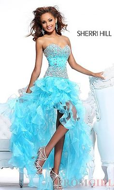 Beaded Ruffled Strapless Sweetheart Dress at PromGirl.com New2