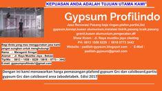 Baja Ringan plafon gypsum dan partisi gypsum 0813-1558-8229