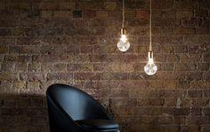 Pretty...Crystal Bulb Lighting by Lee Broom.  #interiordesign