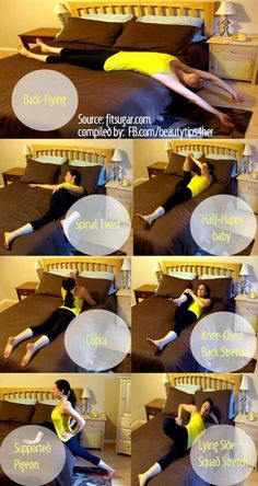 Stretches before bed for better sleep