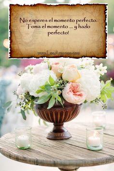 No esperes el momento perfecto. Toma el momento ...y hazlo   perfecto!