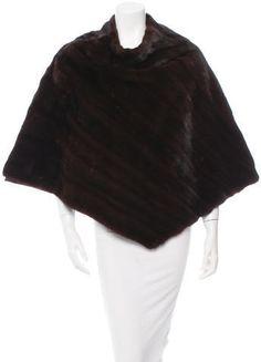 Fur Mink Fur Poncho Mink Fur, Stylish, Tops, Women, Women's, Shell Tops