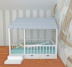 Çatısı Shingle Montessori Yatak Altı Çekmeceli