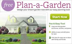 "Free Interactive Garden Design Tool - No Software Needed! Plan-A-Garden - BHG.com   -   Plan-a-Garden lets you design anything from a patio-side container garden to your whole yard. Use your mouse to ""drag-and-drop"" more than 150 trees, shrubs, and flowers. Add dozens of structures like buildings, sheds, fences, decks -- even a pond."