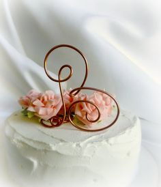 Rustic Wedding Decorations, Country Weddings, Copper Letter Cake Topper