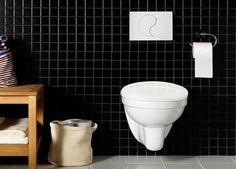 1273254 Hafa  Hafa Wall Vegghengt toalett Inkl. sisterne og hvit spyleknapp
