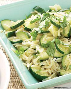 orzo and zucchini pasta salad - nice little summer treat.
