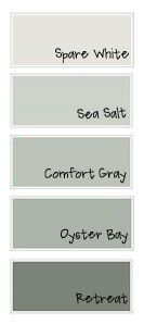 Sherwin Williams. - the sea salt shade is perfect as a throughout-the-house neutral.