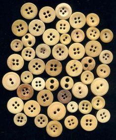 19th century Civil War era bone buttons. Sold eBay 01/2012 by afurryfriend. $6.99