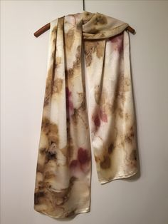 silk eco printed scarf by Rebecca Yeomans