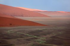 Sand dunes rising from a floodplain in Sossusvlei, Namibia. Taken before dawn from the top of Dune Reality Of Life, Grain Of Sand, Dune, Airplane View, Natural Beauty, Deserts, Earth, Sky, Landscape