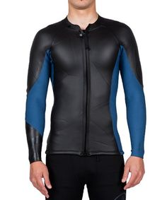 c2e5d41813 Look at this Black   Blue Lefty Front Zip Rashguard - Men