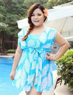 7b695a29f066b Sexy Plus Size Swimwear One Piece Women Dress Swimsuit Bodysuit Big Breast Large  Size Skirt Bathing Suit
