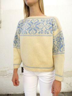 Label: Nesjar. Norwegian Wool Sweater vintage 70s sz. M by fairseason on Etsy