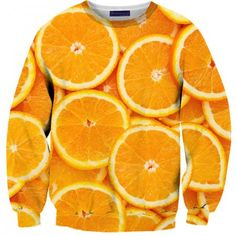 Sweatshirts - Orange Sweater Oranges make the best post-soccer game snack. Also the best orange slice smile. AND it's got lots of vitamin C! Perfect for kicking an annoying cold out. It's like, the best fruit ever! Canadian Clothing, Mode 3d, Chill, Stylish Hoodies, Unique Hoodies, Galaxy Cat, Weird Food, Crazy Food, Fruit Print