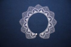 Crochet Collar Pattern, Crochet Lace Collar, Hand Crochet, Neck Accessories, Bobbin Lace, White Lace, Collars, Cotton, Handmade