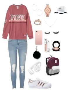 """""""Girls Nowadays"""" by lifeofriley19 on Polyvore featuring River Island, adidas, FOSSIL, Accessorize, Beats by Dr. Dre, MICHAEL Michael Kors, NIKE, MAC Cosmetics and Victoria's Secret"""