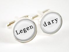 Gifts for Him - Mens Cufflinks - How i Met Your Mother - Barney Stinson Quote Jewelry - Accessories for Men Men's Fashion Black And White, Jewelry Quotes, How I Met Your Mother, Wedding Groom, Mother Gifts, Groomsmen, Valentine Day Gifts, Gifts For Him, Mens Fashion