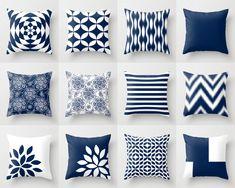Blue Throw Pillows, Blue Pillows, Navy Blue Decorative Pillow Covers, Chevron Throw Pillows, Cover Only Decorative Pillows Kissen Navy Grey White Throw Pillow Covers Neutral Pillows, Chevron Throw Pillows, Diy Pillows, Sofa Pillows, Accent Pillows, White Pillow Covers, Decorative Pillow Covers, Throw Pillow Covers, Couch Covers