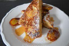 Cinnamon spiced French toast with caramelisedbananas