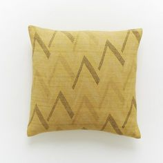 Hand-Blocked Silk Broken Chevron Pillow Cover | west elm