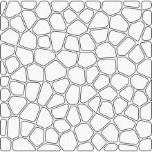 Voronoi pattern with rounded corners and offset Tile Patterns, Pattern Art, Textures Patterns, Glass Painting Designs, Paint Designs, Voronoi Diagram, Patterns In Nature, Beautiful Patterns, Faux Stone Walls