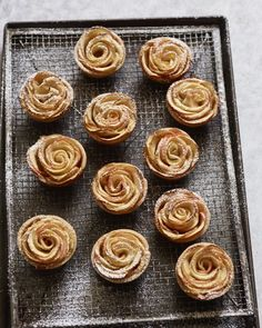 Mini Apple Rose Tartlets - Cupcakes & Cashmere