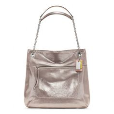 Coach :: Poppy Leather Slim Tote