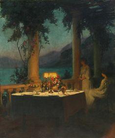 """Marcel Rieder, """"Beauté crépusculaire au bord du lac d'Annecy"""" (""""Twilight Beauty on Annecy's Lakeside"""")"""