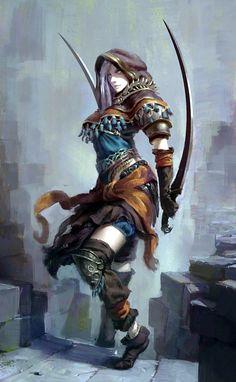 Random Fantasy/RPG artwork I find interesting,(*NOT MINE) from Tolkien to D&D. Fantasy Warrior, 3d Fantasy, Fantasy Kunst, Fantasy Women, Medieval Fantasy, Fantasy Girl, Fantasy Artwork, Fantasy Fighter, Elf Warrior