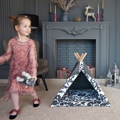 When it's fun to work with mom ; Teepee Bed, Kids Teepee Tent, Kidsroom, Play Houses, Dog Bed, Mom, Bedroom Kids, Children's Teepee Tent, Childs Bedroom