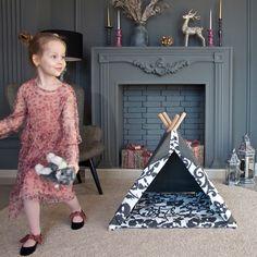 When it's fun to work with mom ; Teepee Bed, Kids Teepee Tent, Kidsroom, Play Houses, Dog Bed, Mom, Bedroom Kids, Children's Teepee Tent, Nurseries