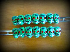 Zombie Vampire fang Horror Hair Barrette by HauntedHairCandy, $11.00